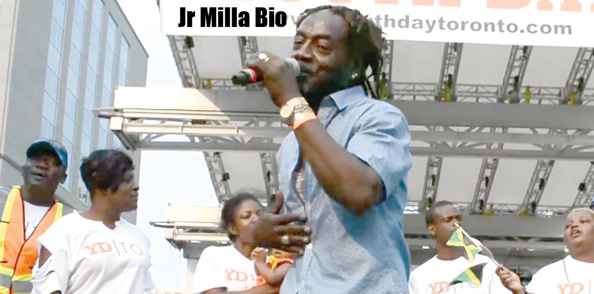 Jr Milla Bio Reggae Singer Toronto